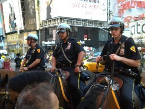 Policemen at Times Square